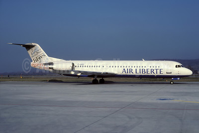 Air Liberte Fokker F.28 Mk. 0100 F-GIOI (msn 11433) (Libres - Human Rights) ZRH (Rolf Wallner). Image: 935124.
