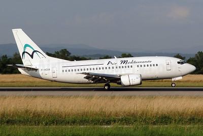 Air Mediterranee Boeing 737-5L9 F-HCOA (msn 28084) BSL (Paul Bannwarth). Image: 920086.