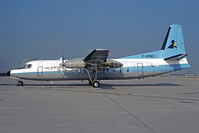 Air Rouergue-Air Inter Fokker F.27 Mk. 500 F-BYAC (msn 10431) (Maersk Air colors) ORY (Christian Volpati). Image: 950827.