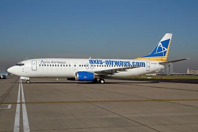 Axis Airways Boeing 737-4Y0 F-GLXQ (msn 24688) BRU (Ton Jochems). Image: 9543188.