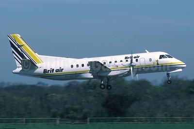 Brit Air (France) SAAB 340A F-GFBZ (msn 083) JER (Richard Vandervord). Image: 952469.