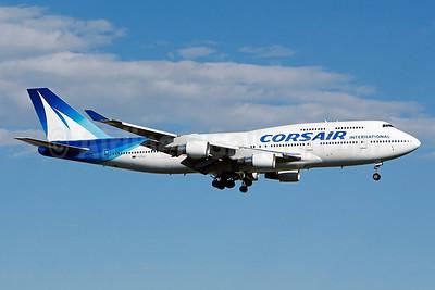 Corsair International Boeing 747-422 F-GTUI (msn 26875) YUL (Gilbert Hechema). Image: 912653.