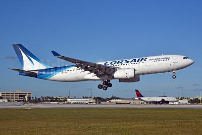 Corsair International Airbus A330-243 F-HCAT (msn 285) MIA (Bruce Drum). Image: 105225.