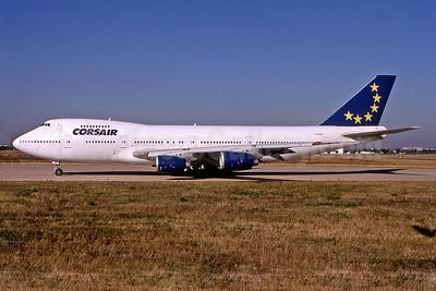 Corsair Boeing 747-236B G-BDXE (msn 21350) (European colors) ORY (Pepscl). Image: 901434.