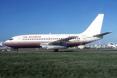 Air Charter-Euralair Boeing 737-204 G-BJCT (msn 22638) (Britannia colors) ORY (Jacques Guillem). Image: 937317.