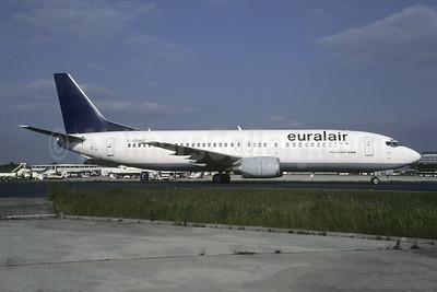 Euralair Boeing 737-430 F-GRNZ (msn 27003) (Lufthansa colors) CDG (Christian Volpati). Image: 953544.