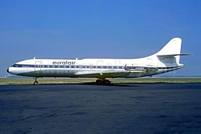 Euralair Sud Aviation SE.210 Caravelle 6R F-BUFC (msn 161) (United Airlines stripe) LBG (Christian Volpati). Image: 902943.