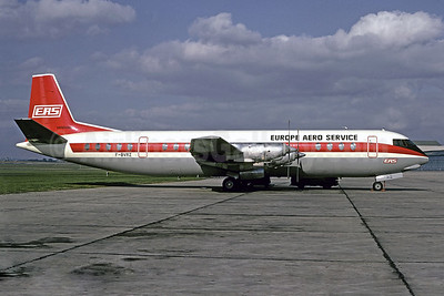 Europe Aero Service-EAS Vickers Vanguard 952 F-BVRZ (msn 741) (Air Canada colors) LBG (CHristian Volpati). Image: 901207.