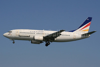 Europe Airpost Boeing 737-3Q8 F-GIXO (msn 24132) (L' Aerooostale colors) CFU (SPA). Image: 940825.