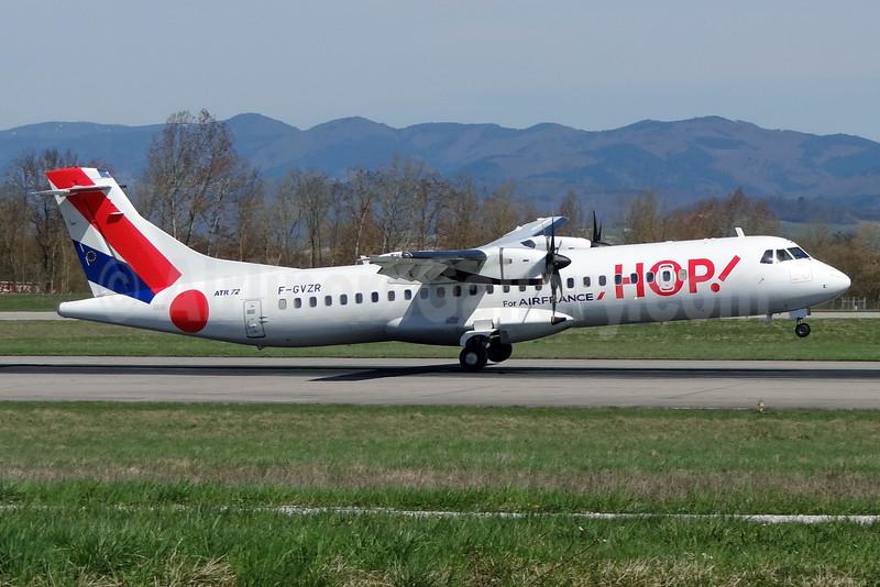 Hop! For Air France ATR 72-212A (ATR 72-500) F-GVZR (msn 498) BSL (Paul Bannwarth). Image: 911775.