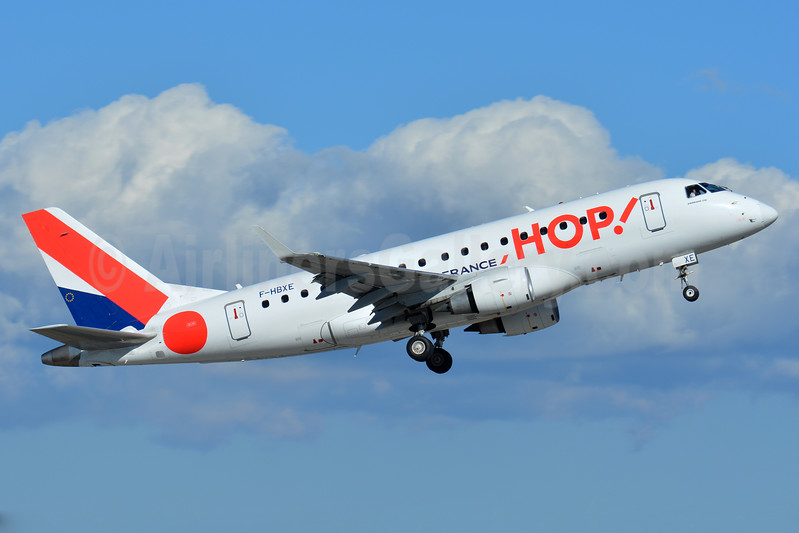 Hop! For Air France Embraer ERJ 170-100STD F-HBXE (msn 17000286) BSL (Paul Bannwarth). Image: 937279.