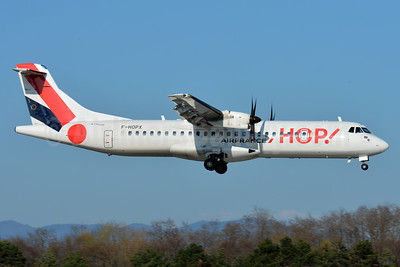 Hop! For Air France ATR 72-212A (ATR 72-600) F-HOPX (msn 1257) BSL (Paul Bannwarth). Image: 937387.