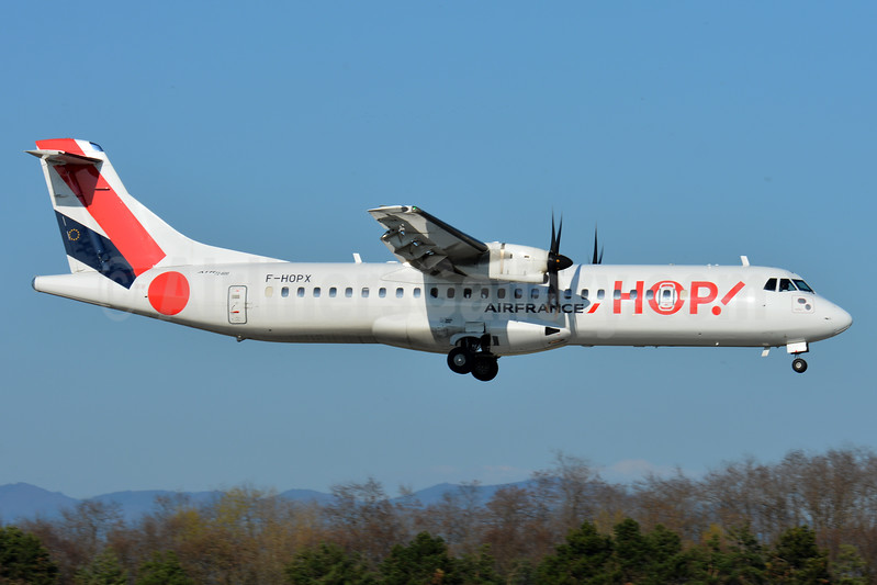 Hop! For Air France ATR 72-212A (ATR 72-600) F-HOPX (msn 1257) BSL (Paul Bannwarth). Image: 937387.
