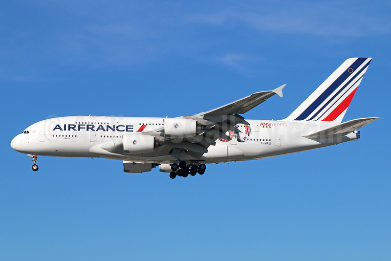 Air France Airbus A380-861 F-HPJI (msn 115) (80 ans-years) LAX (Michael B. Ing). Image: 921386.
