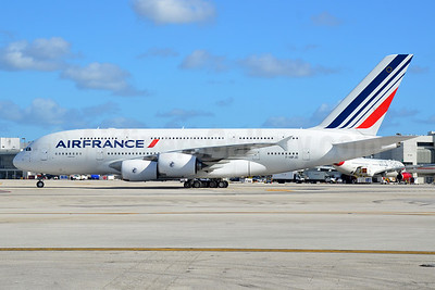 Air France Airbus A380-861 F-HPJD (msn 049) MIA (Bruce Drum). Image: 104280.