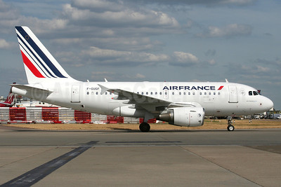 Air France Airbus A318-111 F-GUGF (msn 2109) LHR (Wingnut). Image: 912481.