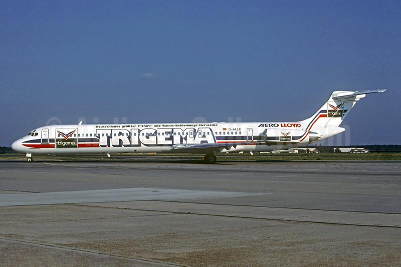 Aero Lloyd's 1997 Trigema special livery