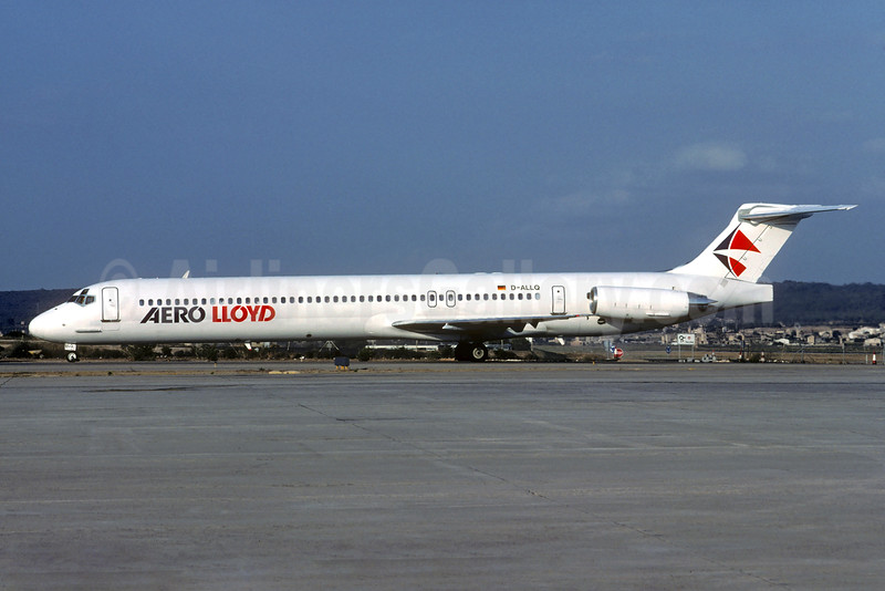 Aero Lloyd McDonnell Douglas DC-9-83 (MD-83) D-ALLQ (msn 53014) PMI (Christian Volpati Collection). Image: 932266.