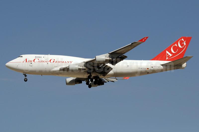 Air Cargo Germany-ACG Boeing 747-409 (SF) D-ACGA (msn 24311) DXB (Paul Denton). Image: 935831.