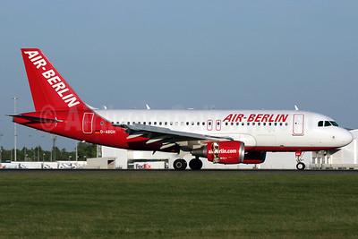 Air-Berlin (airberlin.com) Airbus A319-112 D-ABGH (msn 3245) STN (Antony J. Best). Image: 901998.