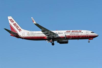 Air-Berlin (airberlin.com) Boeing 737-86J WL D-ABAS (msn 28073) STN (Keith Burton). Image: 900274.