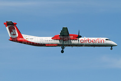 Airberlin (airberlin.com) (LGW) Bombardier DHC-8-402 (Q400) D-ABQD (msn 4234) STN (Keith Burton). Image: 913286.