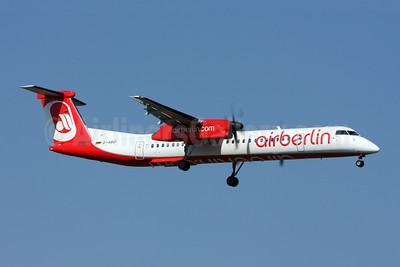 Airberlin (airberlin.com) (LGW) Bombardier DHC-8-402 (Q400) D-ABQI (msn 4264) ZRH (Andi Hiltl). Image: 907142.