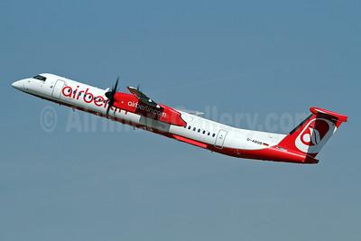 Airberlin (airberlin.com) (LGW) Bombardier DHC-8-402 (Q400) D-ABQB (msn 4226) DUS (Keith Burton). Image: 941212.