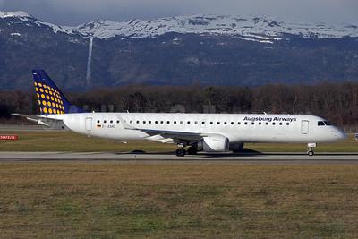 Augsburg Airways (Lufthansa Regional) Embraer ERJ 190-200LR (ERJ 195) D-AEMC (msn 19000300) GVA (Paul Denton). Image: 911564.