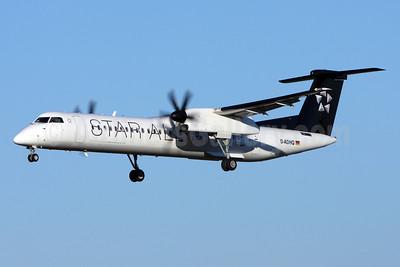 Augsburg Airways Bombardier DHC-8-402 (Q400) D-ADHQ (msn 4016) (Star Alliance) ZRH (Andi Hiltl). Image: 911796.
