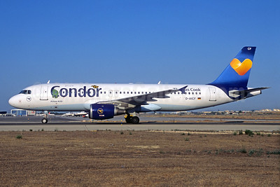 Condor Flugdienst-Thomas Cook Airbus A320-212 D-AICF (msn 905) (Janosch - Kastenfrosch and Tigerente) (Sunny Heart) PMI (Jacques Guillem Collection). Image: 935755.
