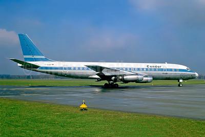 Condor Flugdienst McDonnell Douglas DC-8-33 D-ADIM (msn 45416) (Sudflug colors) ZRH (Jacques Guillem Collection). Image: 941542.