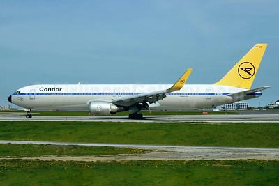 Condor Flugdienst Boeing 767-31B ER EI-CRF (D-ABUM) (msn 25170) (1963 Retrojet) YYZ (TMK Photography). Image: 937847.