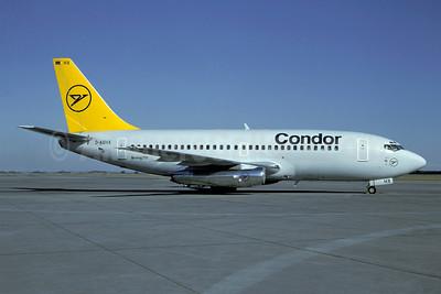 Condor Flugdienst Boeing 737-230 D-ABHX (msn 22637) MUC (Frank Putsch - Christian Volpati Collection). Image: 941288.