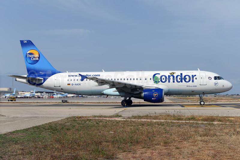 Condor Flugdienst-Thomas Cook Airbus A320-212 D-AICK (msn 1416) (Janosch - Kastenfrosch and Tigerente) PMI (Ton Jochems). Image: 923489.