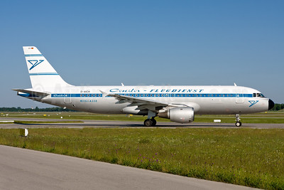 Condor Flugdienst Airbus A320-212 D-AICH (msn 971) (1961 retrojet) MUC (Gunter Mayer). Image: 954514.
