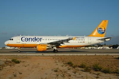 Condor Flugdienst-Thomas Cook Airbus A320-212 D-AICK (msn 1416) FAO (Ton Jochems). Image: 953959.