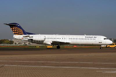 Contact Air Flugdienst Fokker F.28 Mk. 0100 D-AFKD (msn 11500) (Lufthansa Regional colors) LHR (SPA). Image: 927030.