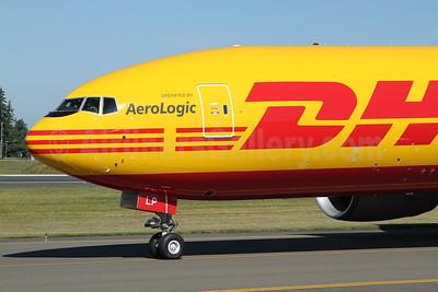 DHL - AeroLogic Boeing 777F D-AALP (msn 66086) PAE (Nick Dean). Image: 950656.