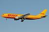 DHL (European Air Transport Leipzig) Airbus A300B4-622R (F) D-AEAJ (msn 641) LHR (Keith Burton). Image: 930527.