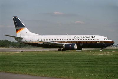 Deutsche BA Boeing 737-3L9 D-ADBI (msn 27337) LGW (SPA). Image: 939792.