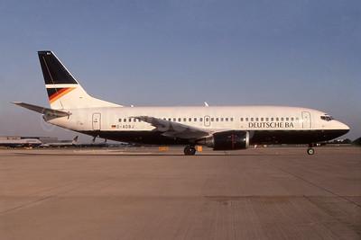 eutsche BA Boeing 737-3L9 D-ADBJ (msn 27833) LHR (SPA). Image: 940408.