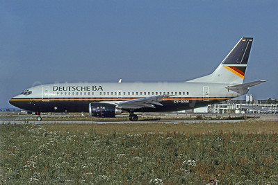 Deutsche BA Boeing 737-3L9 OY-MAM (D-ADBC) (msn 26442) MUC (Markus Bischof - Bruce Drum Collection). Image: 901455.