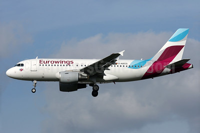 Eurowings (Airberlin) Airbus A319-112 D-ABGS (msn 3865) LHR (Antony J. Best). Image: 937139.