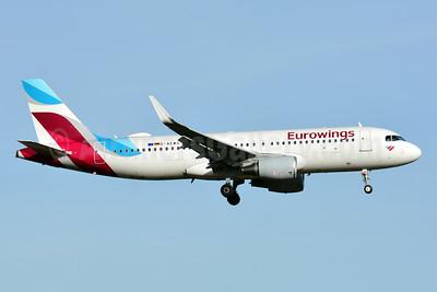 Eurowings Airbus A320-214 WL D-AEWS (msn 7439) ZRH (Paul Bannwarth). Image: 941519.