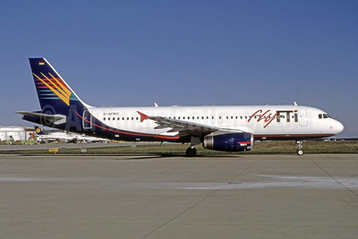 Fly FTI (Germany) Airbus A320-231 D-AFRO (msn 230) (Airtours colors) FRA (Bernhard Ross). Image: 950824.