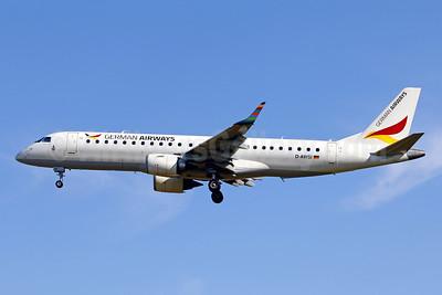 German Airways (WDL) Embraer ERJ 190-100LR D-AWSI (msn 19000074) PMI (Javier Rodriguez). Image: 954300.