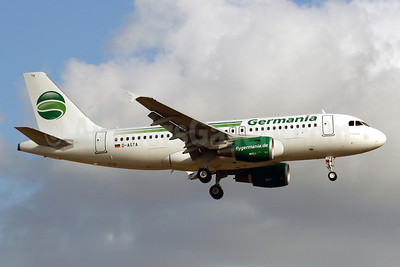 Germania Fluggesellschaft Airbus A319-112 D-ASTA (msn 4663) PMI (Javier Rodriguez). Image: 912270.
