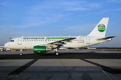 Germania Fluggesellschaft Airbus A319-112 D-AHIM (msn 3818) FRA (Bernhard Ross). Image: 906177.