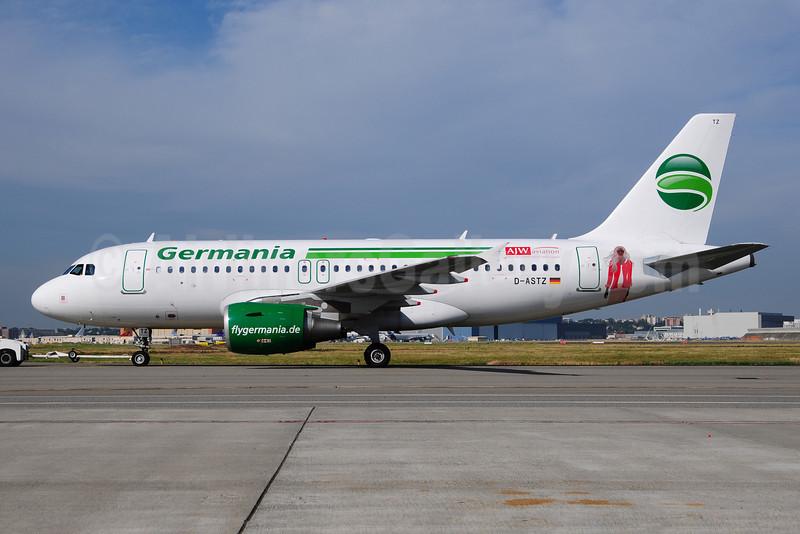 Germania Fluggessellschaft Airbus A319-112 D-ASTZ (msn 3019) (AJW Aviation) TLS (Ton Jochems). Image: 908526.